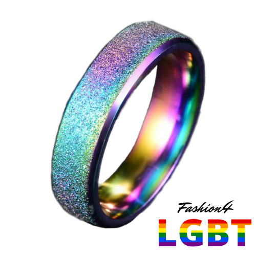 Rainbow Ring - Blasted