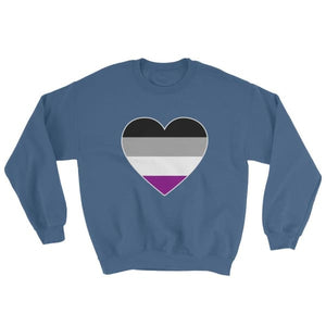 Sweatshirt - Ace Big Heart Indigo Blue / S