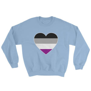 Sweatshirt - Ace Big Heart Light Blue / S
