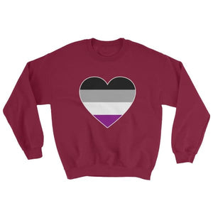 Sweatshirt - Ace Big Heart Maroon / S