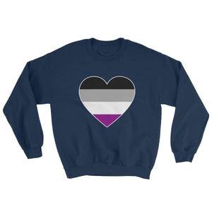 Sweatshirt - Ace Big Heart Navy / S