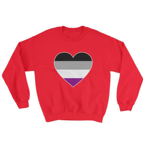 Sweatshirt - Ace Big Heart Red / S