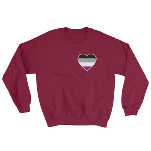 Sweatshirt - Ace Heart Maroon / S