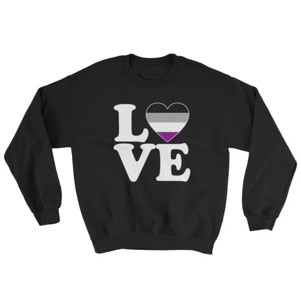 Sweatshirt - Ace Love & Heart Black / S