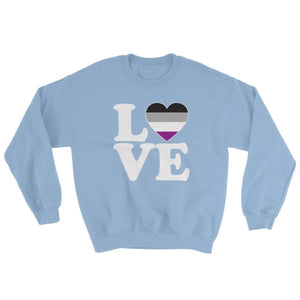 Sweatshirt - Ace Love & Heart Light Blue / S