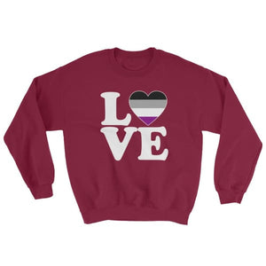 Sweatshirt - Ace Love & Heart Maroon / S