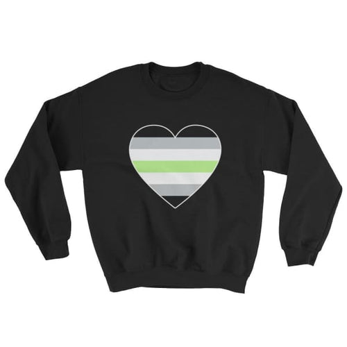 Sweatshirt - Agender Big Heart Black / S