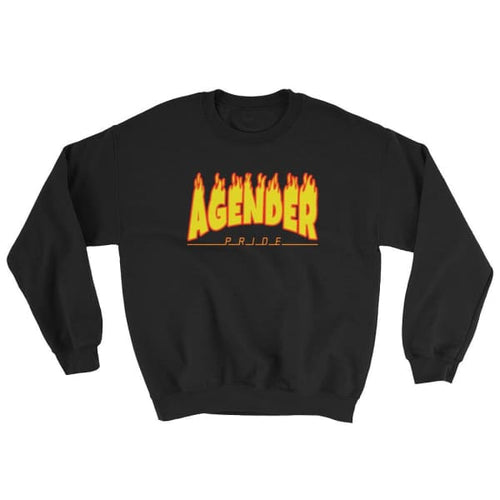 Sweatshirt - Agender Flames Black / S