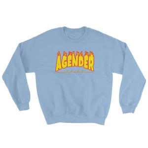 Sweatshirt - Agender Flames Light Blue / S