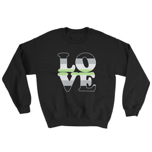 Sweatshirt - Agender Love Black / S
