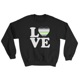 Sweatshirt - Agender Love & Heart Black / S