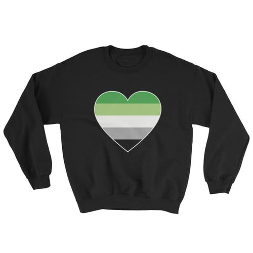 Sweatshirt - Aromantic Big Heart Black / S