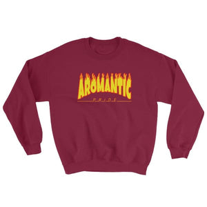 Sweatshirt - Aromantic Flames Maroon / S
