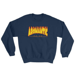 Sweatshirt - Aromantic Flames Navy / S