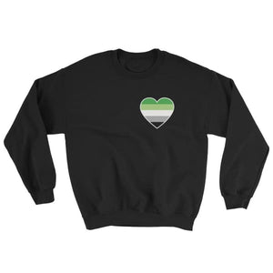 Sweatshirt - Aromantic Heart Black / S