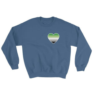 Sweatshirt - Aromantic Heart Indigo Blue / S