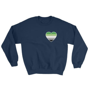 Sweatshirt - Aromantic Heart Navy / S