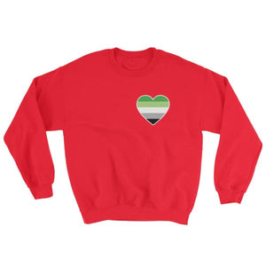 Sweatshirt - Aromantic Heart Red / S