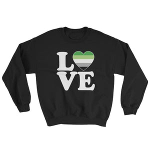 Sweatshirt - Aromantic Love & Heart Black / S