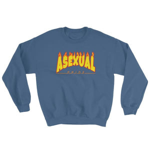 Sweatshirt - Asexual Flames Indigo Blue / S