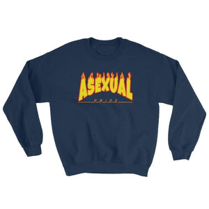 Sweatshirt - Asexual Flames Navy / S