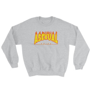 Sweatshirt - Asexual Flames Sport Grey / S