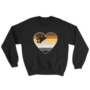 Sweatshirt - Bear Pride Big Heart Black / S