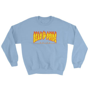Sweatshirt - Bear Pride Flames Light Blue / S