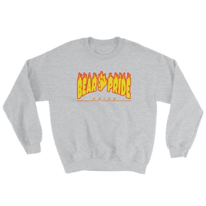 Sweatshirt - Bear Pride Flames Sport Grey / S