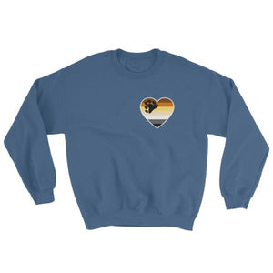 Sweatshirt - Bear Pride Heart Indigo Blue / S