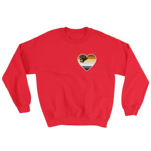 Sweatshirt - Bear Pride Heart Red / S