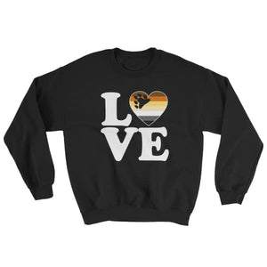 Sweatshirt - Bear Pride Love & Heart Black / S