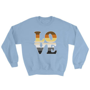 Sweatshirt - Bear Pride Love Light Blue / S