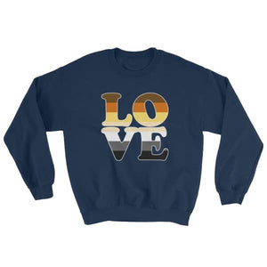 Sweatshirt - Bear Pride Love Navy / S