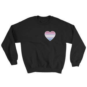 Sweatshirt - Bigender Heart Black / S