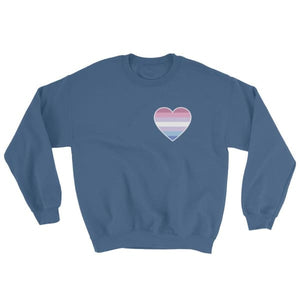 Sweatshirt - Bigender Heart Indigo Blue / S
