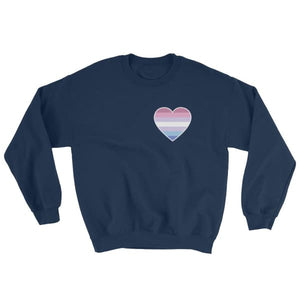Sweatshirt - Bigender Heart Navy / S
