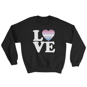 Sweatshirt - Bigender Love & Heart Black / S