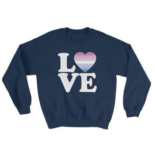 Sweatshirt - Bigender Love & Heart Navy / S