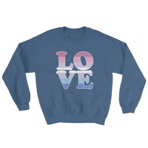 Sweatshirt - Bigender Love Indigo Blue / S