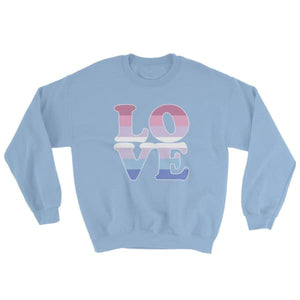 Sweatshirt - Bigender Love Light Blue / S