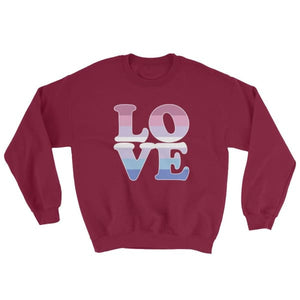 Sweatshirt - Bigender Love Maroon / S