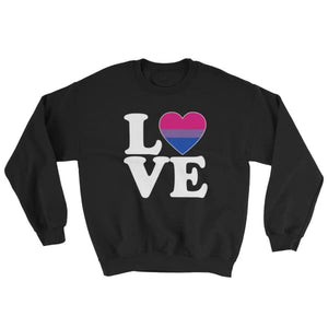 Sweatshirt - Bisexual Love & Heart Black / S