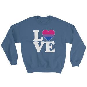 Sweatshirt - Bisexual Love & Heart Indigo Blue / S
