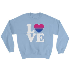 Sweatshirt - Bisexual Love & Heart Light Blue / S