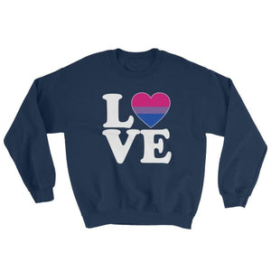 Sweatshirt - Bisexual Love & Heart Navy / S