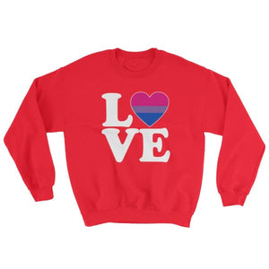 Sweatshirt - Bisexual Love & Heart Red / S
