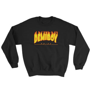 Sweatshirt - Demiboy Flames Black / S