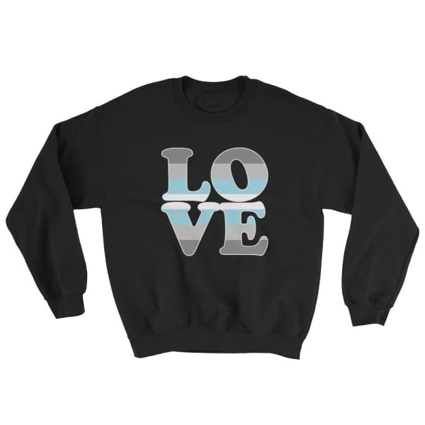 Sweatshirt - Demiboy Love Black / S