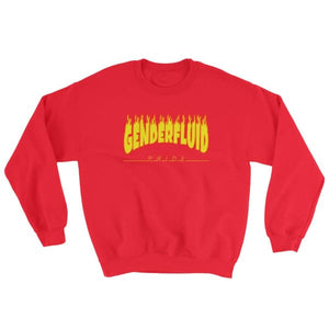 Sweatshirt - Genderfluid Flames Red / S